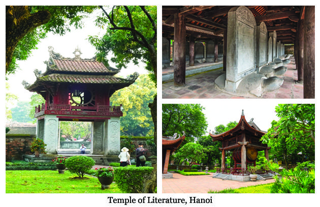 Temple of Literature Quoc Tu Giam is considered a symbol of knowledge, of Vietnamese education